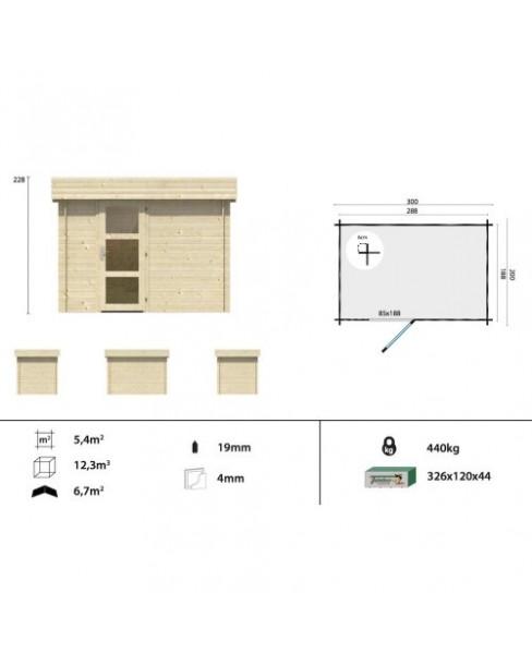 Kerti faház Novalie 300x200 - 5m²