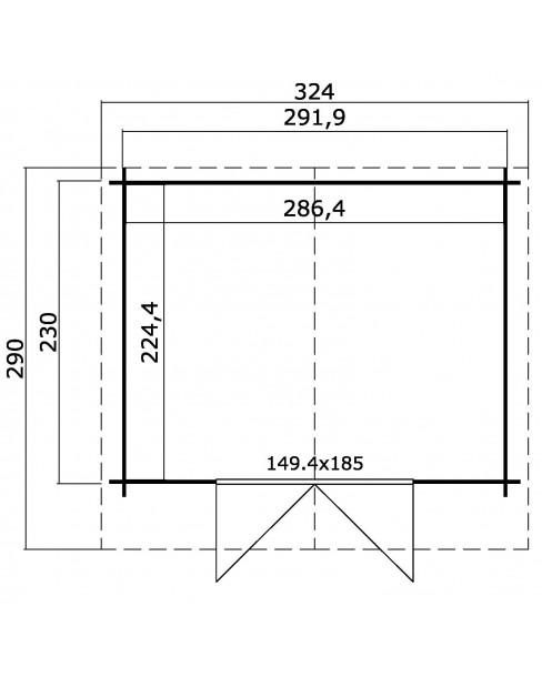 Kerti Faház LM - Baltimore 2923 padló nélkül 6,43m²