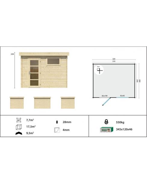 Kerti faház Modern Ultra 320x260 - 7m²