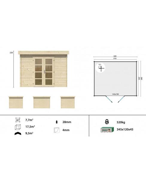 Kerti faház Modern Hyper 320x260 - 7m²
