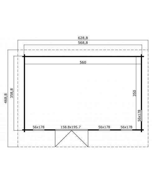 Kerti faház LM - Barbados 6 3657 padlóval 19m²
