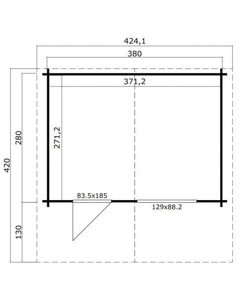 Kerti faház LM - Valga 3828 10,7m²