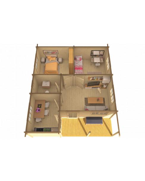 Kerti faház Ardee 817x700 cm - 50m²