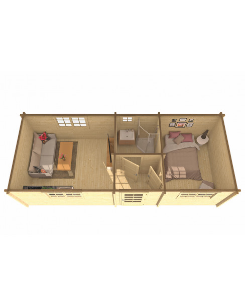 Kerti faház Ava 844x347 cm - 24m²