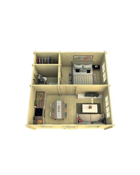 Kerti faház Ennis 534x540 cm - 26m²
