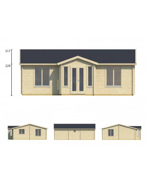 Kerti faház Mullingar 850x790 cm - 57m²