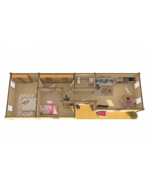 Kerti faház Slane 1400x490 cm - 64m²