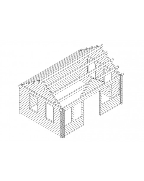 Kerti faház Trevor 550x400 cm - 20m²